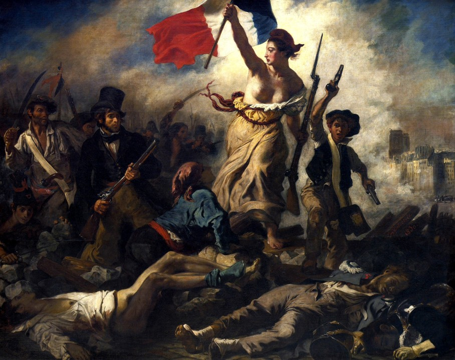 Liberty guiding the people - French revolutionary wars and ideology